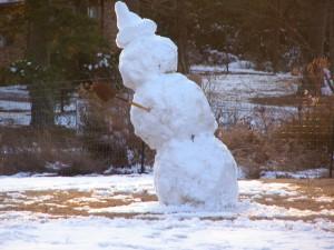 Barefoot Snowman