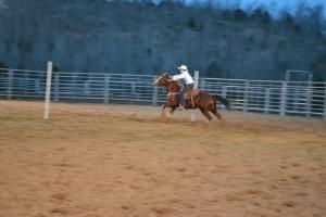 Runnin' the Poles at Arkansas Junior Rodeo Event