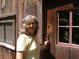 Freeda Baker Nichols at Hemingway's Barn Studio in Piggott, Arkansas