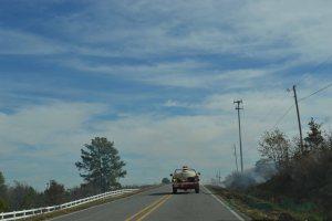 Fire Truck blocks the road