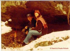 Gene, Freeda, cave on Baker Place, Clinton